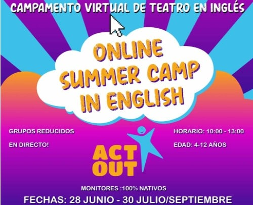 Campamento de teatro en inglés Online
