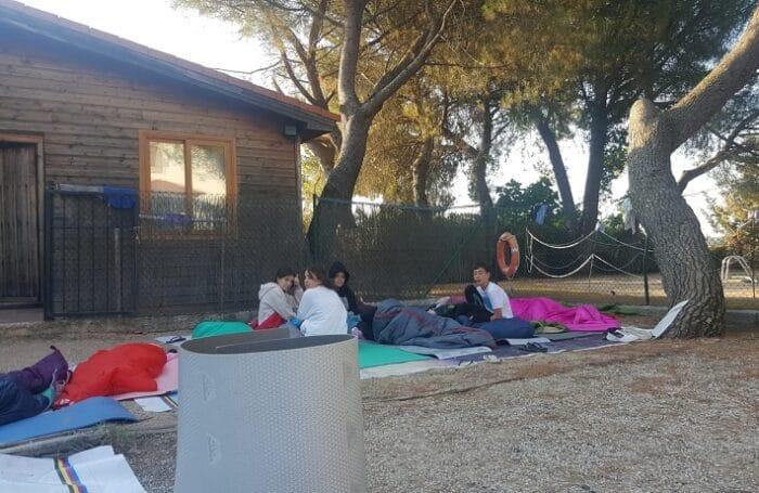 Campamento aventura en agosto